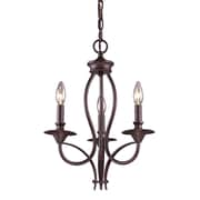"Elk Lighting Medford 58261031-39 19"" 3 Light Chandelier, Oiled Bronze"