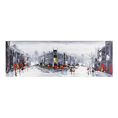 """""Sterling Industries """"""""Fire In The Rain"""""""" Canvas Wall Art, 19""""""""H x 59""""""""W"""""" 1397080"