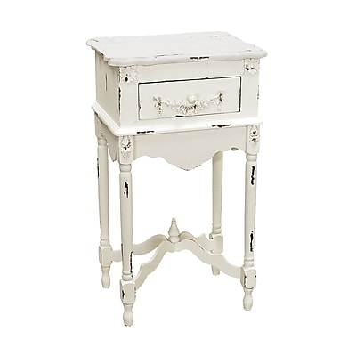 Sterling Industries 58289 Wood End Table, White, Each (58289-18039)