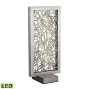 """Dimond Lighting Basinger 582D27189 33"""" LED Table Lamp, Silver"""