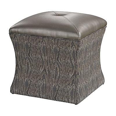 Sterling Industries Luxe 582139-0109 Wood/Fabric Ottoman, Gray