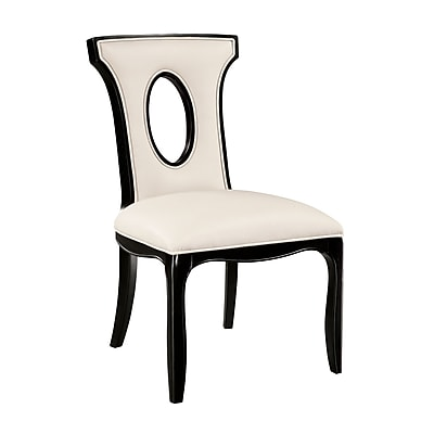 Sterling Industries Industries 58260709229 Almond Colored Bonded Leather Side Chair