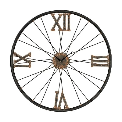 Sterling Industries 582129-10889 Rock Lawn Iron Wall Clock, White Face