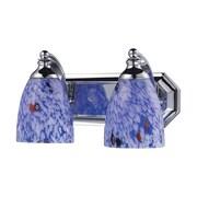"Elk Lighting Vanity 582570-2C-BL9 7"" x 14"" 2 Light Vanity, Starburst Blue"