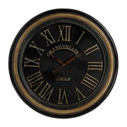 Sterling Industries 582130-0069 Grand Theatre Distressed Hand Painted Large Wall Clock, Black Face