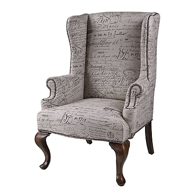 Sterling Industries Industries 58260713999 Rattan/Wood Wing Chair