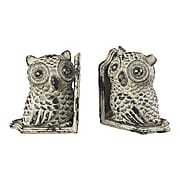 Sterling Industries 582129-10539 Set of 2 Owl Decorative Bookends, Grappa Gray