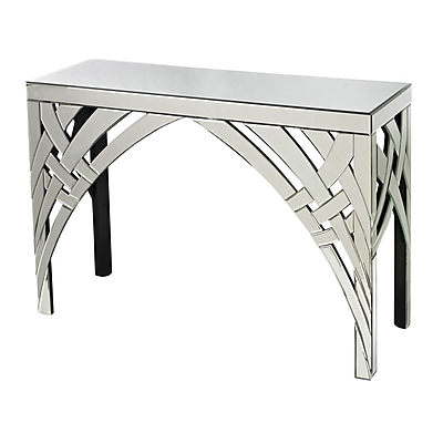 Sterling Industries Arched Ribbons Glass Console Table, Clear, Each (582114-649)
