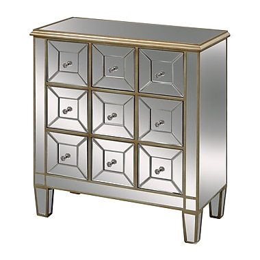 Sterling Industries Roma 58260436319 9 Drawers Accent Chest, Silver