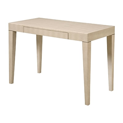 Sterling Industries 58260433979 Transitional Wood Table, Beige Faux Shagreen