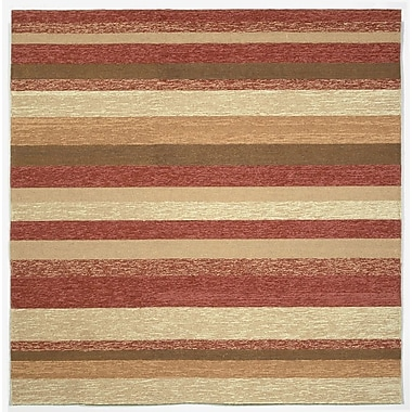 Liora Manne Ravella Red Stripe Outdoor Rug; 3'6'' x 5'6''