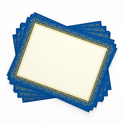 Gartner Studios Foil Certificates, Blue & Gold