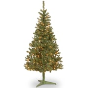 National Tree Co. Canadian Fir 6' Green Wrapped Artificial Christmas Tree w/ 200 Clear Lights