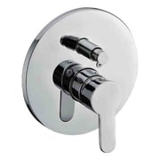 Alfi Brand Shower Valve Mixer w/ Rounded Lever Handle and Diverter; Brushed Nickel