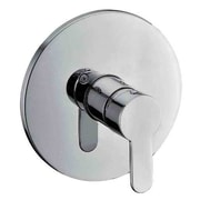 Alfi Brand Shower Valve Mixer w/ Rounded Lever Handle; Brushed Nickel