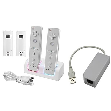 Insten® 242130 2-Piece Game Adapter Bundle For Wii/Nintendo Wii/Wii U