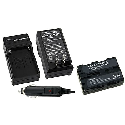 Insten® 267602 2-Piece DV Battery Bundle For Sony Alpha A850/Sony NP-FM30/NP-FM50/NP-FM70