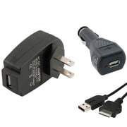 Insten® 273289 3-Piece Game Cable Bundle For 1A USB Travel Charger Adapter/Sony PSP Go