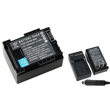 Insten - Ensemble de batterie CC de 2 morceaux pour Canon BP-808/BP-807/BP-809/BP-819/BP-827 (283189)