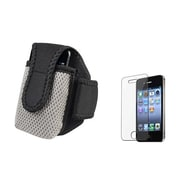 Insten® 288486 2-Piece iPhone Armband Bundle For Apple iPhone 4/4S/MP3/Cell Phones