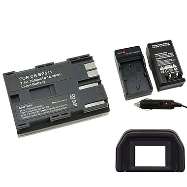 Insten® 4-Piece DV Battery Bundle For Canon BP-511(314895)