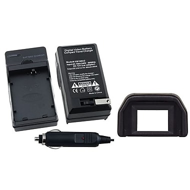 Insten® 314898 2-Piece DV Battery Charger Bundle For Canon LP-E5