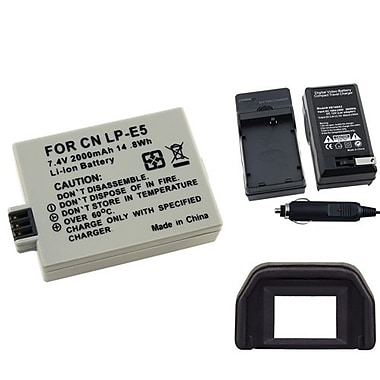 Insten® 3-Piece DV Battery Bundle For EOS Rebel Xsi/Canon LP-E5(314899)