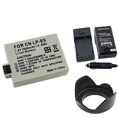 Insten® 4-Piece DV Battery Bundle For EOS Rebel Xsi/Canon LP-E5(314923)