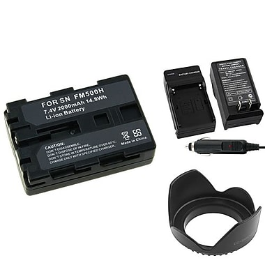 Insten® 3-Piece DV Battery Bundle For Sony NP-FM500H/Alpha A850/Sony NP-FM30/NP-FM50(314927)