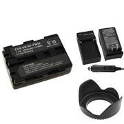 Insten® 314932 4-Piece DV Battery Bundle For Sony NP-FM50/NP-FM30/Sony NP-FM500H/58mm Lens/Filters