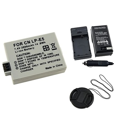 Insten® 3-Piece DV Battery Bundle For EOS Rebel Xsi/Canon LP-E5(314959)