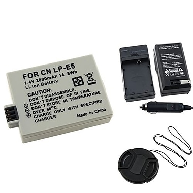 Insten® 314960 4-Piece DV Battery Bundle For EOS Rebel Xsi/Canon LP-E5