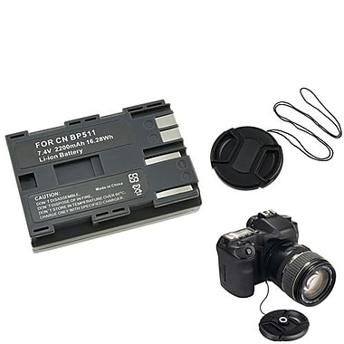 Insten® 314983 3-Piece DV Battery Bundle For Canon BP-511/58 mm Filters/Adapters/Lens
