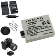 Insten® 314997 5-Piece DV Battery Bundle For EOS Rebel Xsi/Canon LP-E5