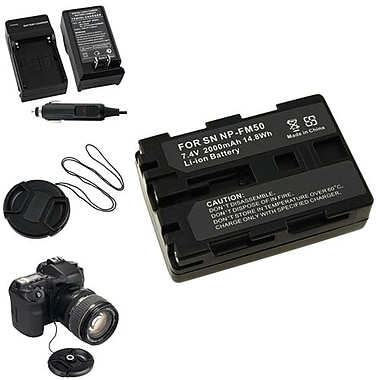 Insten 5-Piece DV Battery Bundle For Sony NP-FM50/NP-FM30/Sony NP-FM500H/58 mm Filters(315006)