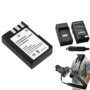 Insten® 3-Piece DV Battery Bundle For D40/D40x/Nikon EN-EL9/SLR/DSLR Camera(352877)