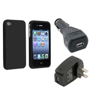 Insten® 354561 3-Piece iPhone Car Charger Bundle For Apple iPhone 4/4S