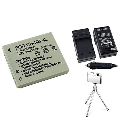 Insten® 3-Piece DV Battery Bundle For PowerShot SD630/SD750/Canon NB-4L(361160)