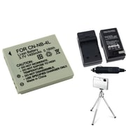 Insten® 361160 3-Piece DV Battery Bundle For PowerShot SD630/SD750/Canon NB-4L