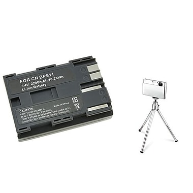 Insten® 361162 2-Piece DV Battery Bundle For Canon BP-511
