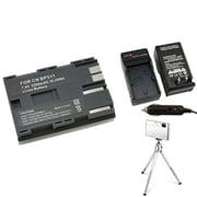 Insten® 361165 3-Piece DV Battery Bundle For Canon BP-511