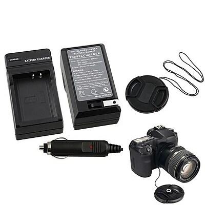 Insten® 369837 3-Piece DV Cap Bundle For Canon LP-E10 battery/58 mm Filters/Adapters/Lens