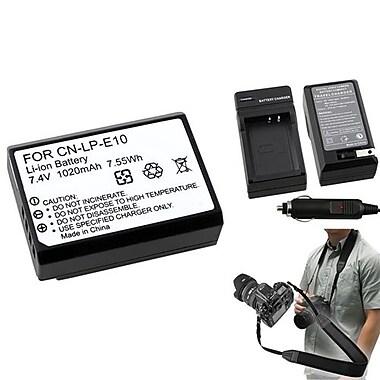 Insten® 369849 4-Piece DV Battery Bundle For DV Eos Rebel T3/Canon LP-E10