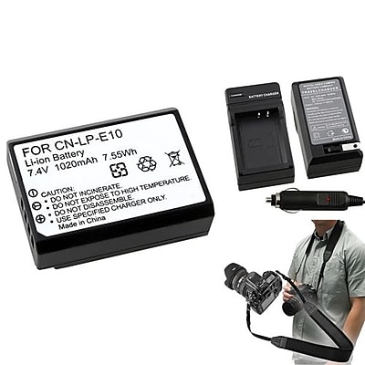 Insten® 369849 4-Piece DV Battery Bundle For DV Eos Rebel T3/Canon LP-E10