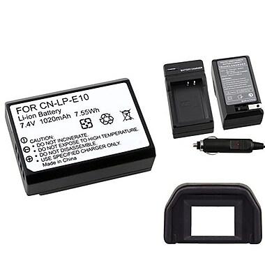 Insten® 3-Piece DV Battery Bundle For Eos Rebel T3/Canon LP-E10(369868)