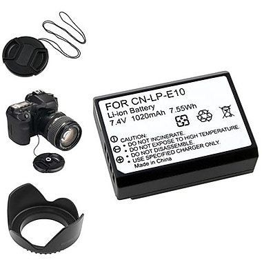 Insten® 5-Piece DV Battery Bundle For Eos Rebel T3/Canon LP-E10(369876)