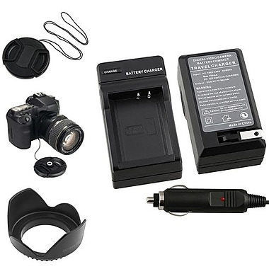 Insten® 4-Piece DV Cap Bundle For 58 mm Filters/Adapters/Lens/Canon LP-E10 Battery(369877)