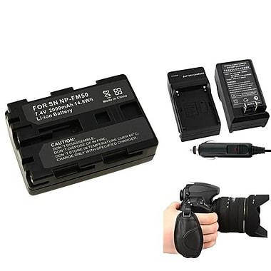 Insten® 377717 4-Piece DV Battery Bundle For Sony NP-FM50/NP-FM30/Sony NP-FM500H/Nikon/Canon/Pentax