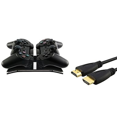 Insten® 384168 2-Piece Game Cable Bundle For Sony PS3 Controller