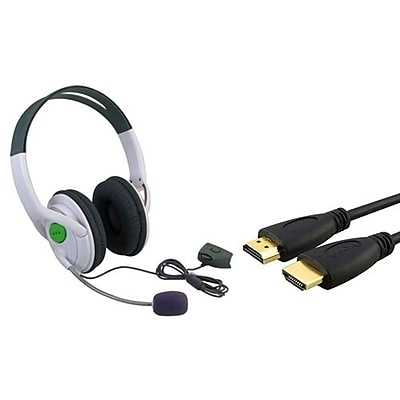 Insten® 384187 2-Piece Game Cable Bundle For Microsoft Xbox 360